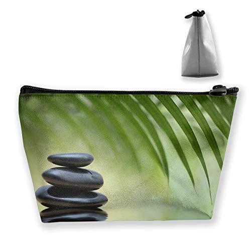 Felsen an einem ruhigen See unter einer Palme Reise Kosmetiktaschen Federmäppchen Multifunktionsbeutel