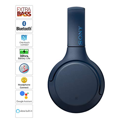 Sony WH-XB700 Wireless Extra Bass Headphones (Blue) Image 2