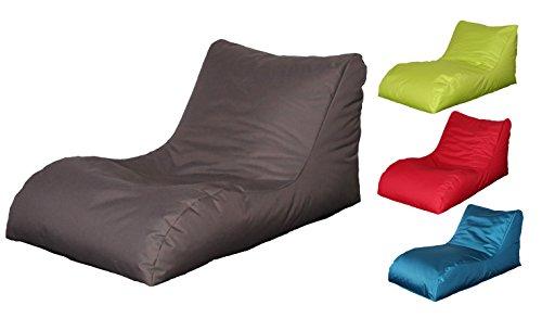 Quantum Interior Sitzsack mit Lehne, Relax Lounge, ca.70x60x125cm, (Grau/Braun)