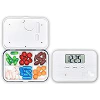 Wawer 6 Fächer Pill Box Alarm Pille Veranstalter, Mini Portable Tägliche Pille Fall mit Digital Wecker Erinnerung... preisvergleich bei billige-tabletten.eu