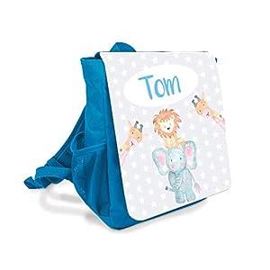 Kinder-rucksack für Jungen mit Namen u. Tiere