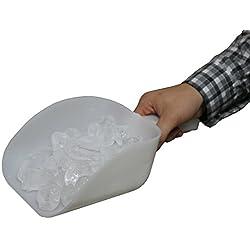 Pala grande de 1 litro, de plástico de alta calidad, para hielo, apta para uso en cocinas, máquinas de hielo y cubos de hielo