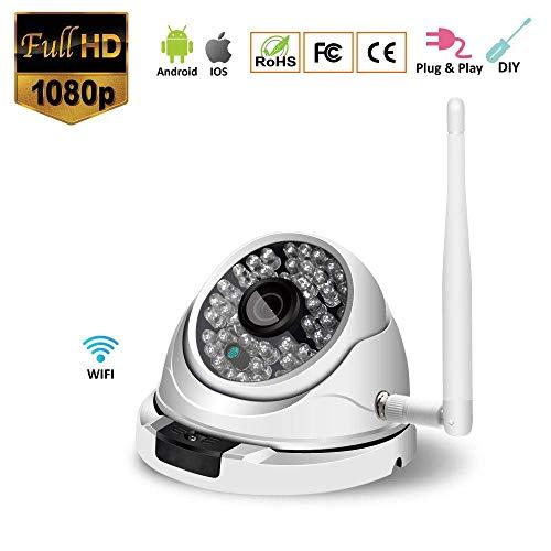 ZLMI 1080P FHD WiFi IP-Kamera 2 Million Pixel APP Remote Motion Alert mit Two-Way Audio Night Vision Home Surveillance mit 32G SD TF Card