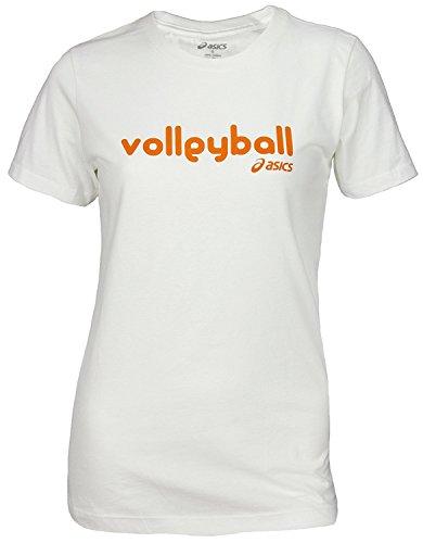 Frauen Glamour Girl Volleyball Tee, Wei? -