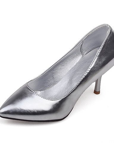 WSS 2016 Chaussures Femme-Habillé-Violet / Argent / Or-Talon Aiguille-Talons / Bout Pointu-Chaussures à Talons-Similicuir silver-us8 / eu39 / uk6 / cn39