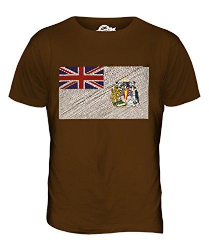 CandyMix Britisches Antarktis-Territorium Kritzelte Flagge Herren T Shirt Braun