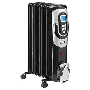 AEG RA 5587 – Radiador de aceite, 1500 W, 7 elementos, programable, pantalla digital, 3 niveles de potencia, regulador…