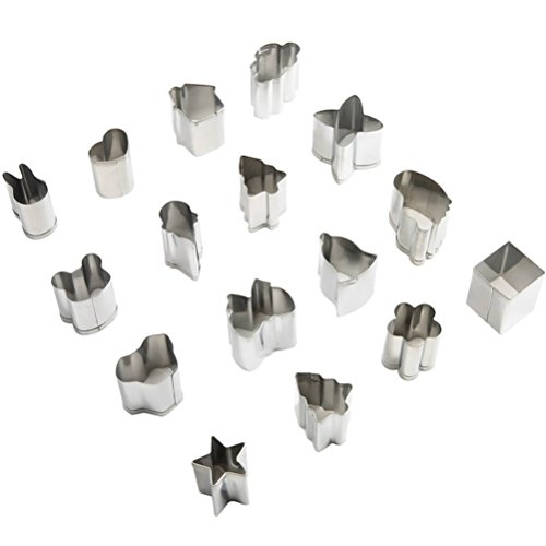 HUAFA 15pc Mini Stahl Form Cutter Mould Set 15 Entwürfe für Plätzchen, Zuckerguss , Sugar & Kuchen-Dekoration