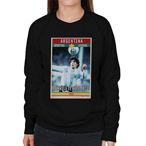 Sporting Legends Poster Argentina Diego Maradona World Cup 1960 Women's Sweatshirt (1960 S Damen Pullover)