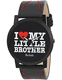 RELISH RE-S8080BB Black Slim Analog Watch For Boys And Mens