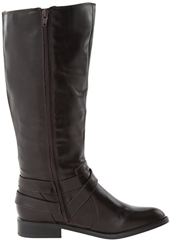 LifeStride Women's Racey Riding Boot,Dark Brown Wide Shaft,10 W US Dark Brown Wide Shaft