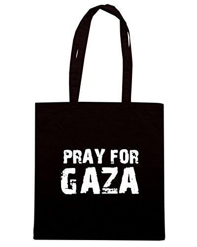 T-Shirtshock - Borsa Shopping TM0579 pray for gaza Nero