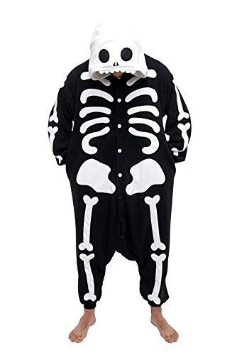 Fleece Pyjama Kigurumi - Skelett