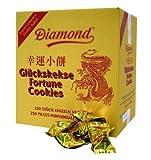 100 Glückskekse einzeln in Goldfolie verpackt ~ Marke DIAMOND