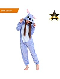 4f7a86fa70 Pyjamas Kinder Erwachsene Einhorn Einteiler Tieranzüge für Junge Mädchen  Damen Herren