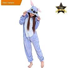 JunYito Pijama Pikachu Animale Disfraz Stitch Traje Niños Niña Adulto Mujer  Invierno Kigurumi Unicornio Cosplay Halloween 97a5c37a9563