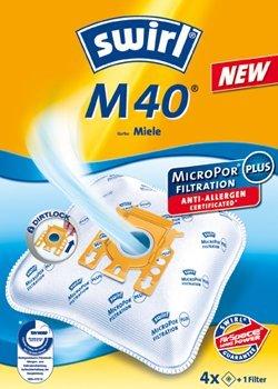 4 Swirl M40 Staubsaugerbeutel für Miele Parkett & Co 5000 von Staubbeutel-Profi®