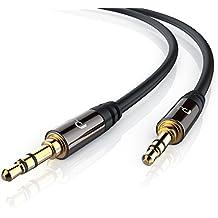 Primewire - 10m Cable auxiliar de audio / cable 3.5mm jack para entradas AUX   Conector metálico de precisión   Conector 3,5 mm en enchufe de 3,5 mm   Serie de calidad superior