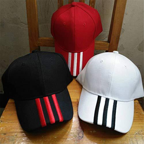 Männlich Kostüm Brasilien - Hut weibliche Kappe beiläufige Wilde Paar-Baseballmütze gestreifte Stickerei Sonnenhut männliche Schwarze Hut weiße Linie einstellbar
