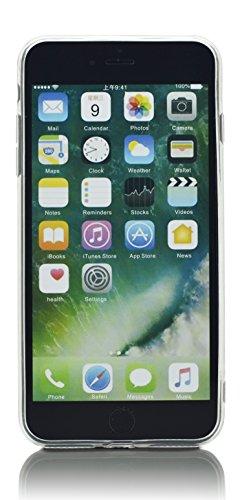 iProtect TPU Schutzhülle Apple iPhone 7 Plus, iPhone 8 Plus Softcase Hülle 'Everyday' Motto Schwarz Einhörner