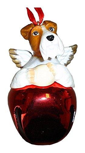 StealStreet SS-D-BL011-A süße Weihnachts-Figur Fuchs Terrier Hund Glocke rot -