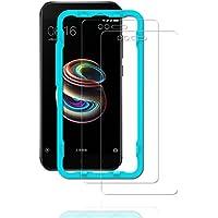 Flos Verre Trempé Xiaomi Mi A1 **Pack de 2** [Kit d'installation Offert], Film Protection écran en Verre Trempé écran Ultra Résistant [3D Touch Compatible] pour Xiaomi Mi A1