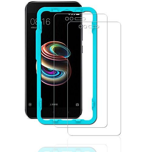 Price comparison product image Flos [2PCS Pack] Xiaomi Mi A1 Screen Protector, **Bubble Free Installation Applicator Tempered Glass Screen Protector [Anti-Fingerprint] For Xiaomi Mi A1-Transparent