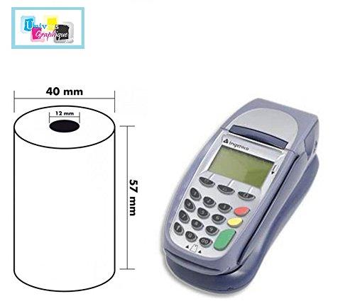50 Stück Thermorollen 57mm x 18m x 12mm [Ø 40mm] für EC-Cash - Thermopapier Kassenrollen -Thermo-Bonrollen