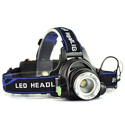 AFAITH Ultra Puissant Cree XM-L T6 LED Lampe Frontale Lumens Headlight Puissante avec Chargeur et 2 Piles très lumineuse,légère et confortable, facile d'utilisation - parfaite pour la course,la marche,le camping, la lecture,la randonnée,les enfants,le bricolage et bien plus encore