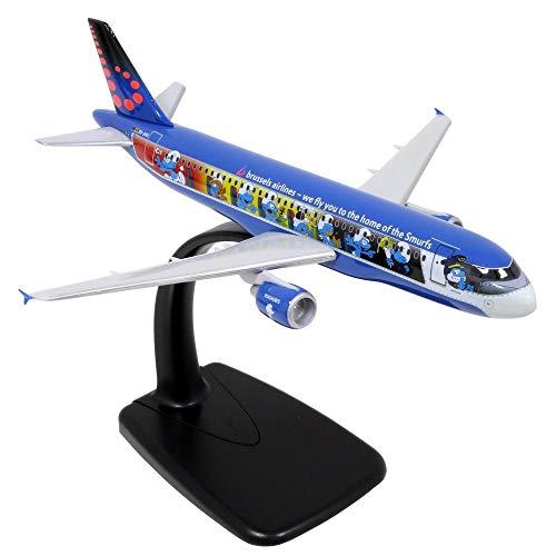 Maqueta del avión Airbus Air Brussels A320 Aerosmurf Los Pitufos 1/200 (2019)