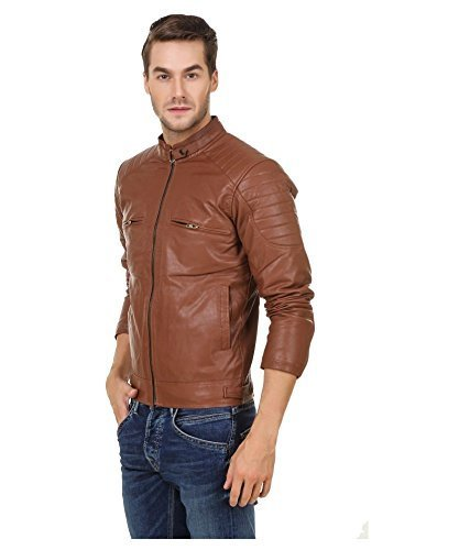 Zacharias Men's Pu Faux Leather Jacket
