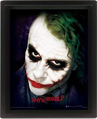 """The Dark Knight - 10 """"x 8"""" Why So Serious Poster 3D encadré """"- Couleur"""