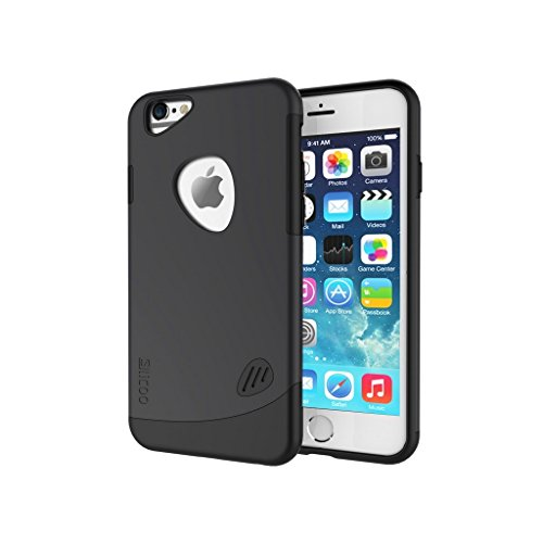 iPhone SE, 5S, 5 harte Fall SLiCOO® [Cobblestone] - ultra-dünne harte Polycarbonat + tpu Hybrid-Schutzhülle - schwarz (5 Iphone Fall Urban)
