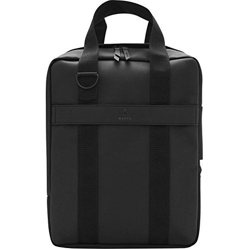 Rains Utility Tote Messenger Bag Black