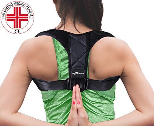 Correttore postura  jd company schiena e spalle fascia posturale uomo e donna ergonomico, traspirante, confortevole regolabile e terapeutico