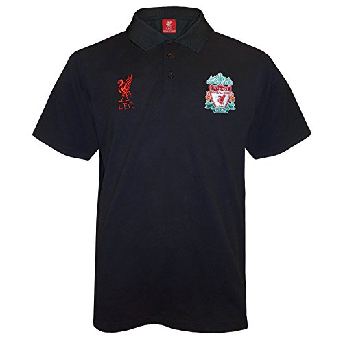 Liverpool F.C. Liverpool FC Official Football Gift Mens Crest Polo Shirt Navy Blue Small