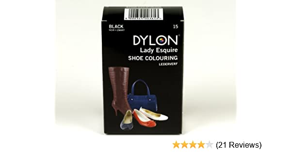 b4b098e41534 Dylon 20ml 15-Black Leather Dye Shoe Boot Handbag Belt Synthetic Waterproof  Colour Die  Amazon.co.uk  Toys   Games