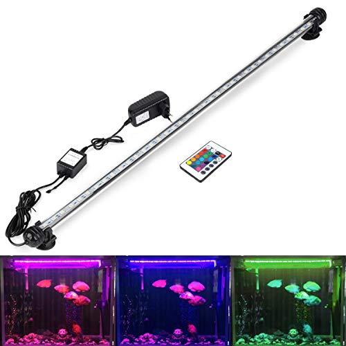 DOCEAN Lampe Tube Submersible pour Aquarium, LED Lampe étanche RGB Lumière Eclairage Aquarium LED (78cm 9,8W)
