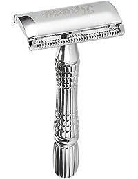 KANZY maquinilla de afeitar de doble filo - maquinillas de afeitar – Safety Razor - Adecuado para todos navaja de afeitar - Caja con espejo interior (K-100).