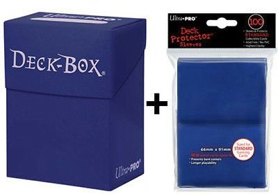 Ultra Pro Deck Box + 100 Protector Sleeves - Blau - Blue - Magic: The Gathering - Standard