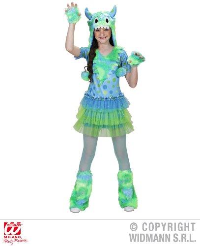 KINDERKOSTÜM - MONSTER GIRL - (Grüne Kostüm Monster Mädchen)