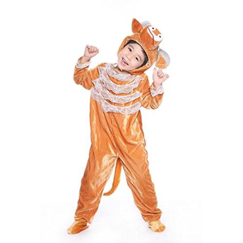 Kostüme Frauen Berühmte Halloween (Honeystore Kind's Unisex Siamesische Kleidung Pyjamas Haustier Kostüme Freizeitkleidung Tier Cosplay)