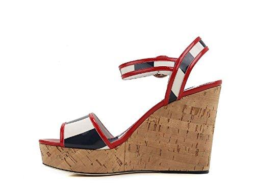 Dolce&Gabbana Sandali Zeppe Vernice Multicolore - Codice Modello: CZ0074 AG201 HW739 Multicolore