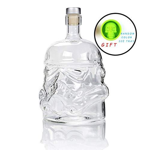 FeiKe Cool Star Wars Storm Trooper Helm Whisky Dekanter Kristallglas Wein Dekanter Flasche Magic Aerator Weingläser Zubehör, Flasche