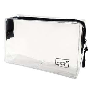 Transparenter Kulturbeutel | 1 Liter | Kosmetiktasche | Sicherheitstoilettentasche transparent für Flüssigkeiten im Handgepäck im Flugzeug