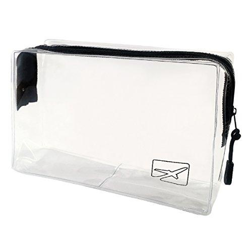 Trousse de toilette transparente pour avion - bagages en cabine et bagage à main - format bagages à main - voyages en avion - volume 1 litre