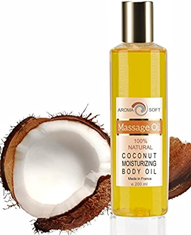 100 % Natural Coconut Body Massage Soft Aroma Oil 200 ml