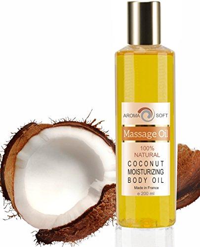 Aceite de Masaje Nuez de Coco 100% Natural - Relajación y Después del baño 200 ml - made in France