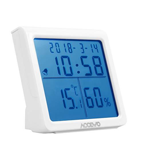 Accevo Termometro Igrometro, Digitale Contatore Termometro Temperatura...