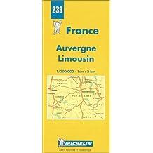 Carte routière : Auvergne - Limousin, N° 239